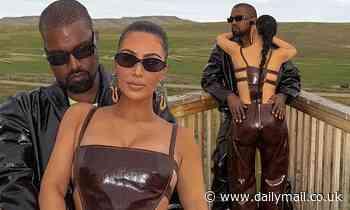 Kim Kardashian snuggles up to husband Kanye West on their $14M Wyoming ranch