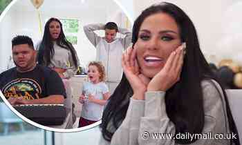 Katie Price's son Junior tells fans 'she's a good mum, I love her' as brother Harvey plays the piano