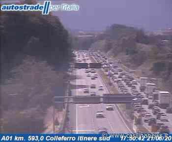 Autostrada A1, incidente tra Colleferro e Valmontone: code verso Roma - Casilina News - Le notizie delle province di Roma e Frosinone
