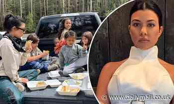 Kourtney Kardashian shares road trip throwback of the family feasting on wraps