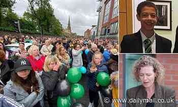 Mother of Noah Donohoe leads hundreds paying tribute to the schoolboy who was found dead in Belfast