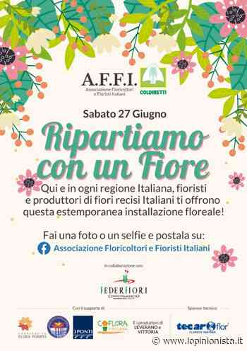"""Coldiretti, Affi e Federfiori lanciano l'iniziativa """"Ripartiamo con un fiore"""" - L'Opinionista"""
