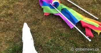 Mississippi Mills, Ont. textile museum's Pride flag stolen, destroyed: OPP - Globalnews.ca