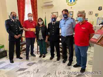 Enna - La Polizia Penitenziaria dona somma di denaro alla Croce Rossa - dedalomultimedia.it