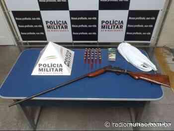 Cataguases: após perseguição policial, espingarda é apreendida - Rádio Muriaé