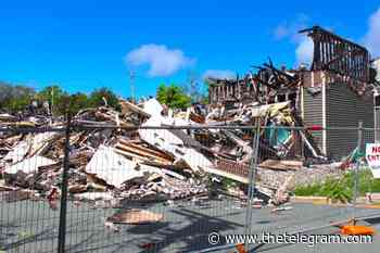 City of Mount Pearl wants cleanup of mounds of debris from hotel fire - The Telegram