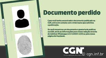 Carteira com documentos de Alberi do Carmo Bageston foi perdida no Centro de Cascavel - CGN