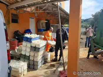 Fábrica em Carmo, RJ, é flagrada com cerca de 10 mil rótulos falsificados e sem licença sanitária - G1