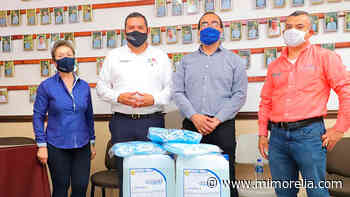 Sedesoh entrega cubrebocas y desinfectante en Uruapan - MiMorelia.com
