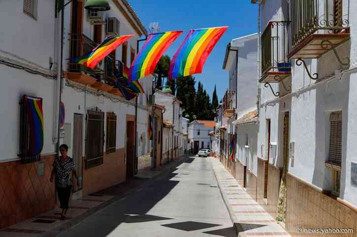 Spanish village makes its own rainbow after council's gay pride flag banned