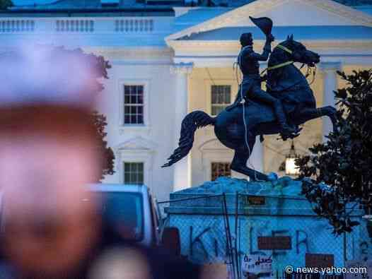Trump accused of abusing power after tweeting people wanted for vandalising statues during Black Lives Matters protests