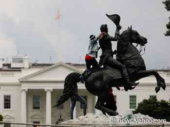 Four men were charged for trying to tear down a statue of President Andrew Jackson near the White House