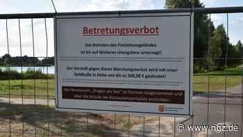 Freizeitsee in Wietmarschen-Lohne nun komplett abgeriegelt - noz.de - Neue Osnabrücker Zeitung