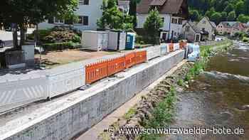 Schiltach - Mauer wird saniert - Schwarzwälder Bote