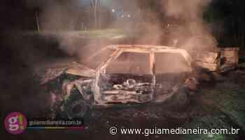 Itaipulândia: Dois veículos são consumidos pelas chamas após acidente - Guia Medianeira