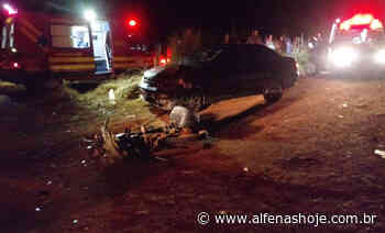 Motociclista fica ferido em acidente na rodovia - Alfenas Hoje