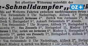 """Vor 120 Jahren: Salon-Schnelldampfer """"Moltke"""" in Zinnowitz - Ostsee Zeitung"""