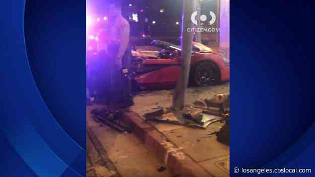 Out-Of-Control McLaren Slams Into Petco In Beverly Hills