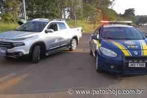 Motorista é preso em Patos de Minas e pick up roubada em SP é apreendida pela PRF - Patos Hoje - Notícias de Patos de Minas