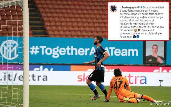 Gagliardini regala la maglia di Inter-Sassuolo - Sky Sport