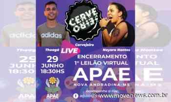 Live de encerramento de leilão virtual da APAE de Nova Andradina será nesta segunda-feira (29) - Nova News - Nova News