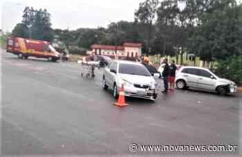 Nova Andradina - Colisão entre dois carros é registrada em frente ao Parque de Exposições - Nova News - Nova News