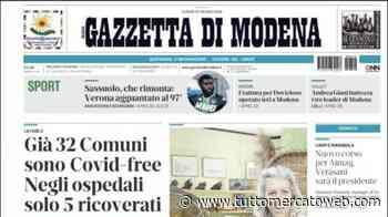 """Gazzetta di Modena: """"Sassuolo, rimonta batticuore. Rogerio acciuffa il Verona al 97'"""" - TUTTO mercato WEB"""