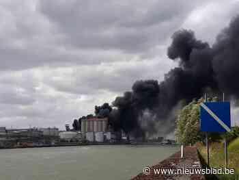 Brand in silo van Mouterij Albert veroorzaakt explosies en enorme rookwolk