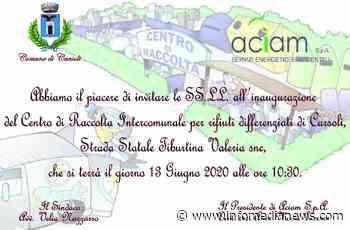 A Carsoli il nuovo Centro di raccolta di rifiuti intercomunale - Info Media News