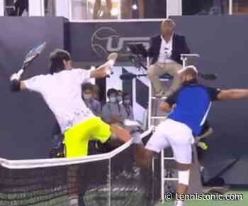 WEIRDEST handshake ever? This is what happened with Feliciano Lopez and Benoit Paire - Tennis Tonic