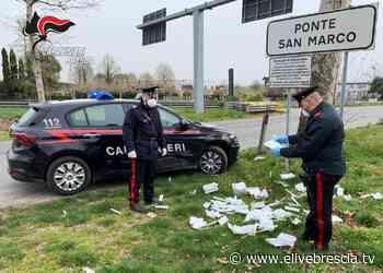 Calcinato: 400 tamponi ritrovati per strada - ÈliveBrescia TV - elivebrescia.tv