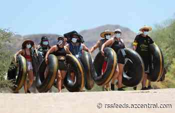 Salt River tubers hit the water with masks and social distancing