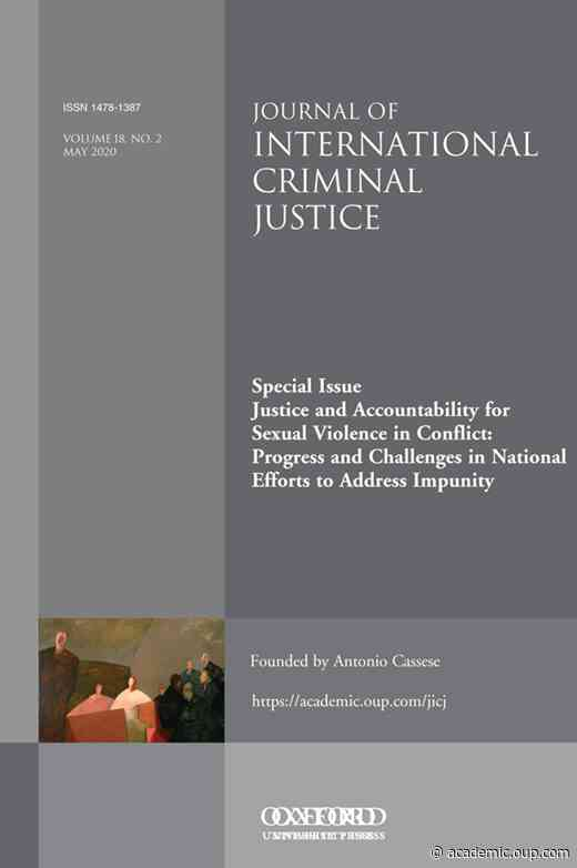 A Sustainable Psychosocial Model to Support the National Investigation and Prosecution of Conflict-related Sexual Violence Crimes