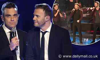 Robbie Williams reveals he is writing songs with Gary Barlow for Take That - Daily Mail