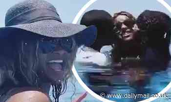 Pregnant Ciara teaches daughter, 3, to swim in cute video
