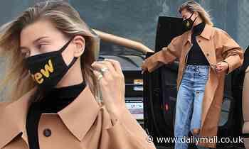 Hailey Bieber reps husband Justin Bieber's brand in Drew House mask to run errands in Studio City