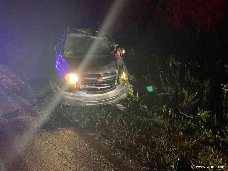 Woman injured in single vehicle crash in eastern DeKalb County