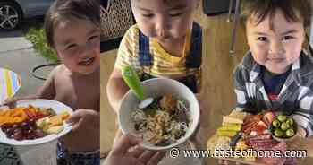 These TikToks of a Little Boy Thanking His Mom for Food Are Bound to Brighten Your Day