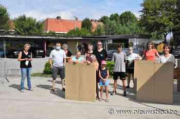 Kamperen in een kartonnen tent