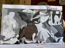 Troina. Lo studente Antonio Furia dona all'Iiss Ettore Majorana il suo Guernica rielaborato alla luce della pandemia del covid 19 - Vivi Enna