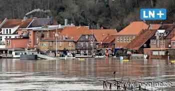 So sieht der Hochwasserschutz der Altstadt vor der Elbe in Lauenburg aus - Lübecker Nachrichten