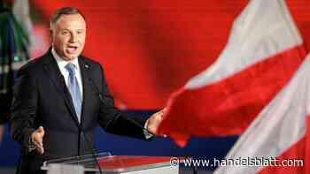 Stichwahl angekündigt: Amtsinhaber Duda verfehlt bei Präsidentenwahl in Polen die absolute Mehrheit - Handelsblatt