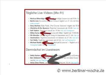 Michael Bublé, Miley Cyrus, Sara Dähn - Berliner Band geht am 03.04.20 um 18 Uhr online: Voice Over Piano´s - Berliner Woche