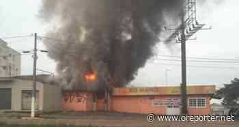 Incêndio destrói lancheria na parada 61 - oreporter.net