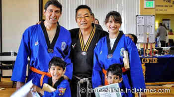 Madhuri Dixit shares memories from Taekwondo class with family, says 'learning together was an amazing family experience' - Times of India