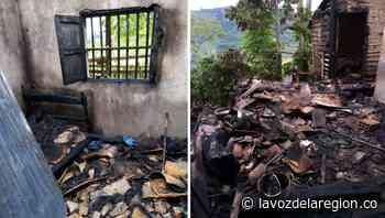 Voraz incendio arrasó una vivienda en vereda de Saladoblanco - Noticias