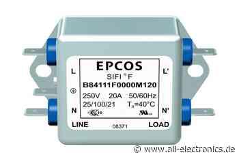 EMV-Filter: Tauglich für die Medizin dank geringerem Ableitstrom - All-Electronics
