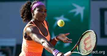 This Facebook post isn't by tennis player Serena Williams - Full Fact