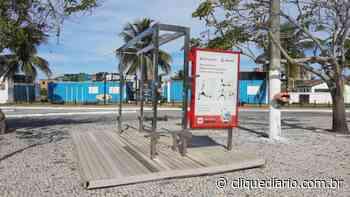 Estação de ginástica da Praia do Forte, em Cabo Frio, recebe manutenção - Clique Diário