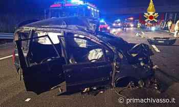 Scontro in autostrada tra due auto: 5 feriti - Prima Chivasso